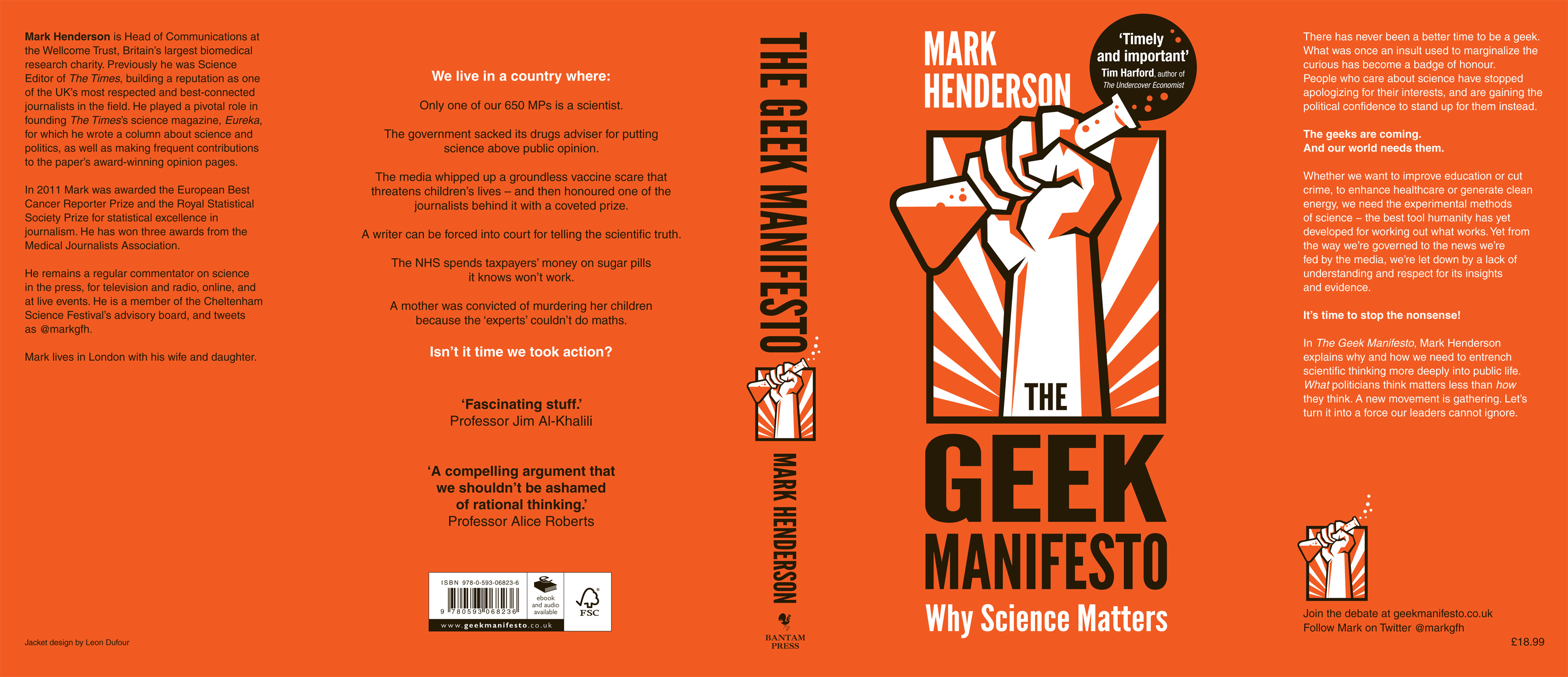 Front And Back Covers The Geek Manifesto
